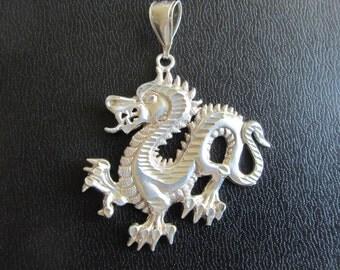 Sterling Silver Dragon Pendant 9.52g