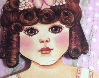 Beautiful Vintage Paper Doll with Dress