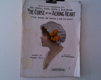 The Curse of an Aching Heart Vintage Sheet Music