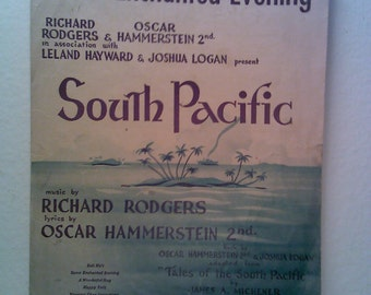 South Pacific, Some Enchanted Evening Vintage Sheet Music