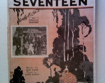 When You and I Were Seventeen Vintage Sheet Music