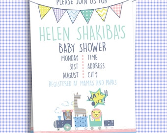 Customized Printable Baby Shower Invitation - KVEventsStationary