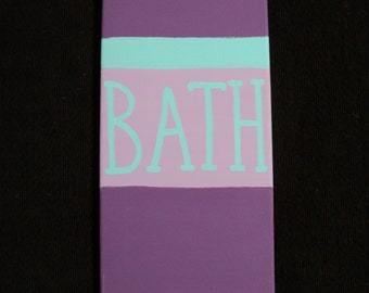 BATH Canvas 5x9 Any Colors