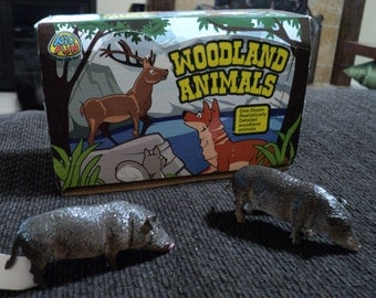 Woodland Pig toys - 15 count