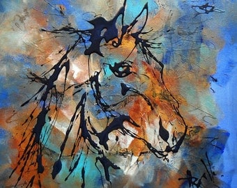 Modern painting the old horse