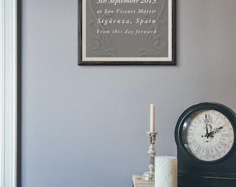 Wedding Keepsake Print - A4 decorative print