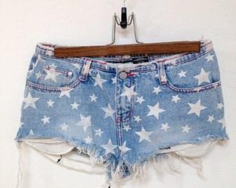 Starry Cutoff Denim Shorts