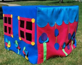 Childrens Felt Playhouses for Card Tables
