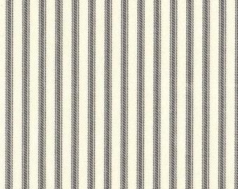 Gray Ticking Curtain