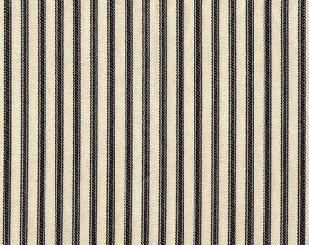 Duvet Cover Black Ticking Stripe, Reversible