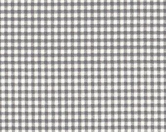 Comforter Brindle Gray Gingham Check, Reversible