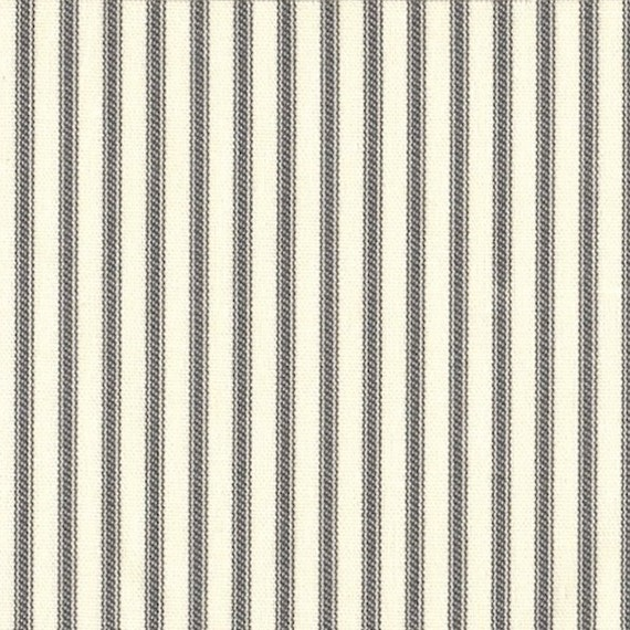 Shower Curtain Brindle Gray Ticking Stripe