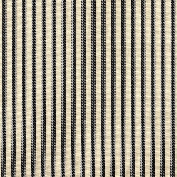 Duvet Cover Black Ticking Stripe Reversible
