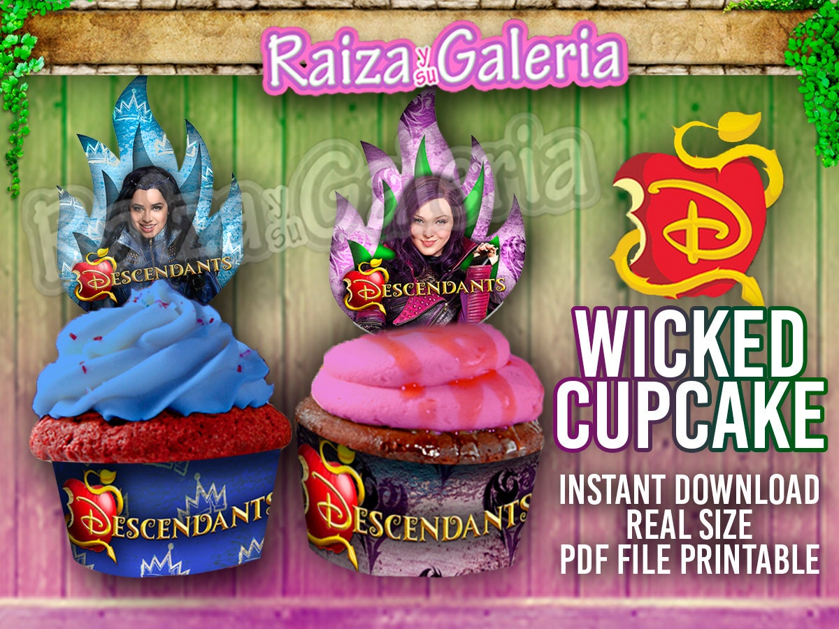 Disney Descendants Awesome Cupcake Toppers And Wrappers