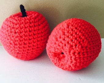 Crocheted Red Delicious Apples - Handmade
