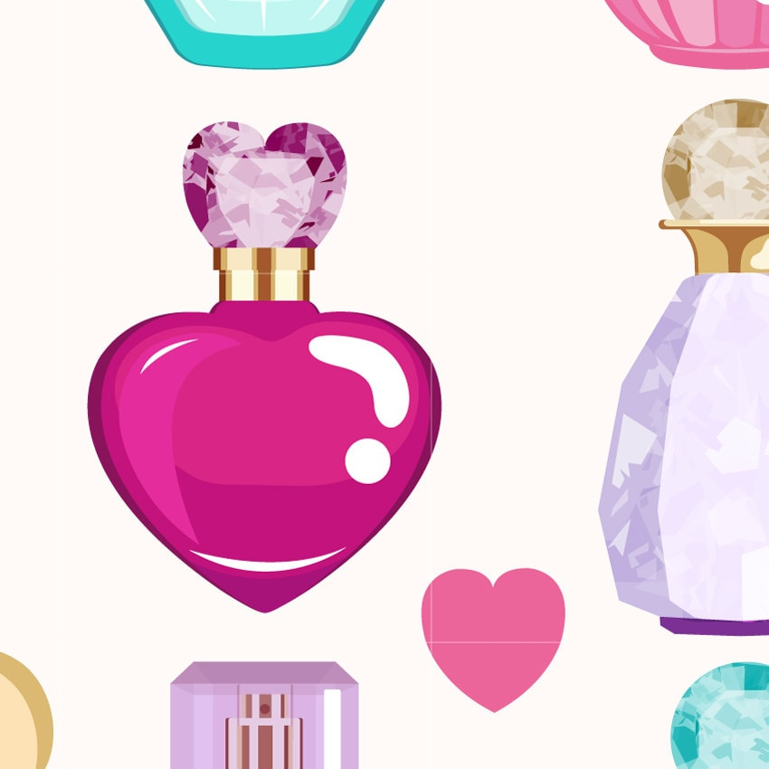 Perfume Digital Vector Clip art/ Cosmetics Clipart Design ...
