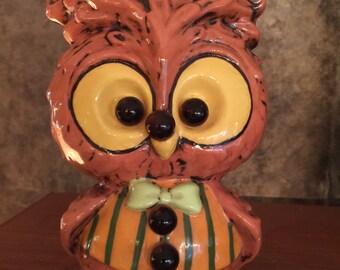 Retro / Vintage Ceramic Owl Figurine