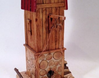 Lumberjack bird feeder