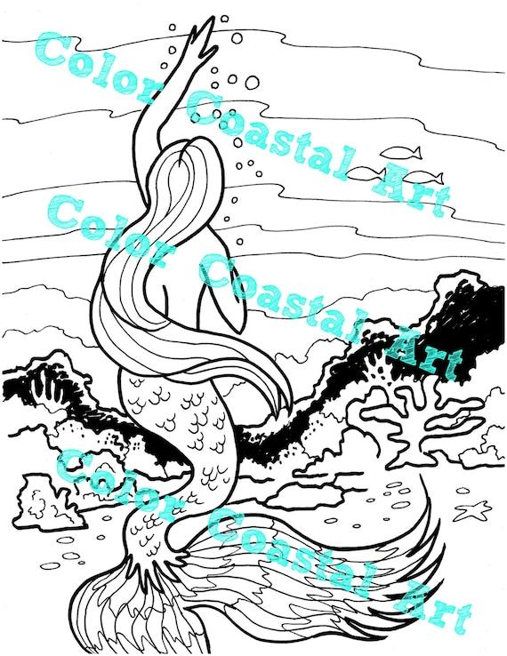 jeanoroberts - 3 Mermaid coloring pages, Mermaid art ...