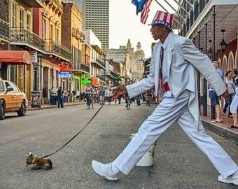 Uncle Sam, New Orleans, Louisiana,  Photograph, French Quarter Art, New Orleans Art, Street Performer