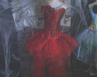 Dia de Los Muertos Womens, costume Day of the dead Burlesque Sz L-XL