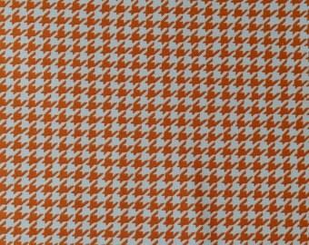 Orange Houndstooth fabric