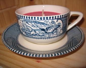 Tea Cup Soy Candle Cinnamon Vanilla