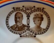 George V of England Silver Jubilee Commemorative Saucer
