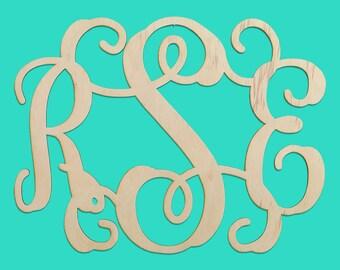Wooden Monogram - 3 Letter