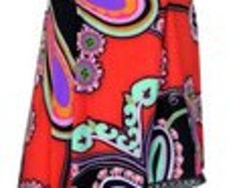 Colorful a simetric blouse