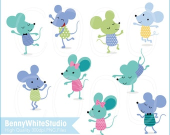 Dancing Mouse Digital Clip Art. Personal and Small Commercial Use. B-0078