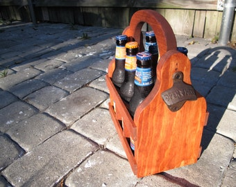 Handmade Beer Carrier Beer Tote Wooden Craft Beer wood beer caddy