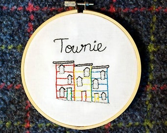 Townie: Newfoundland Sayings - 5 inch embroidery hoop