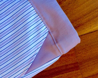 Pajama bottom lilac, white and blue stripes/lilac