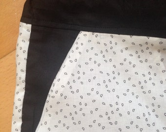 Pajama bottom black drops on white/black