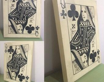 Queen Of Clubs Wall Art