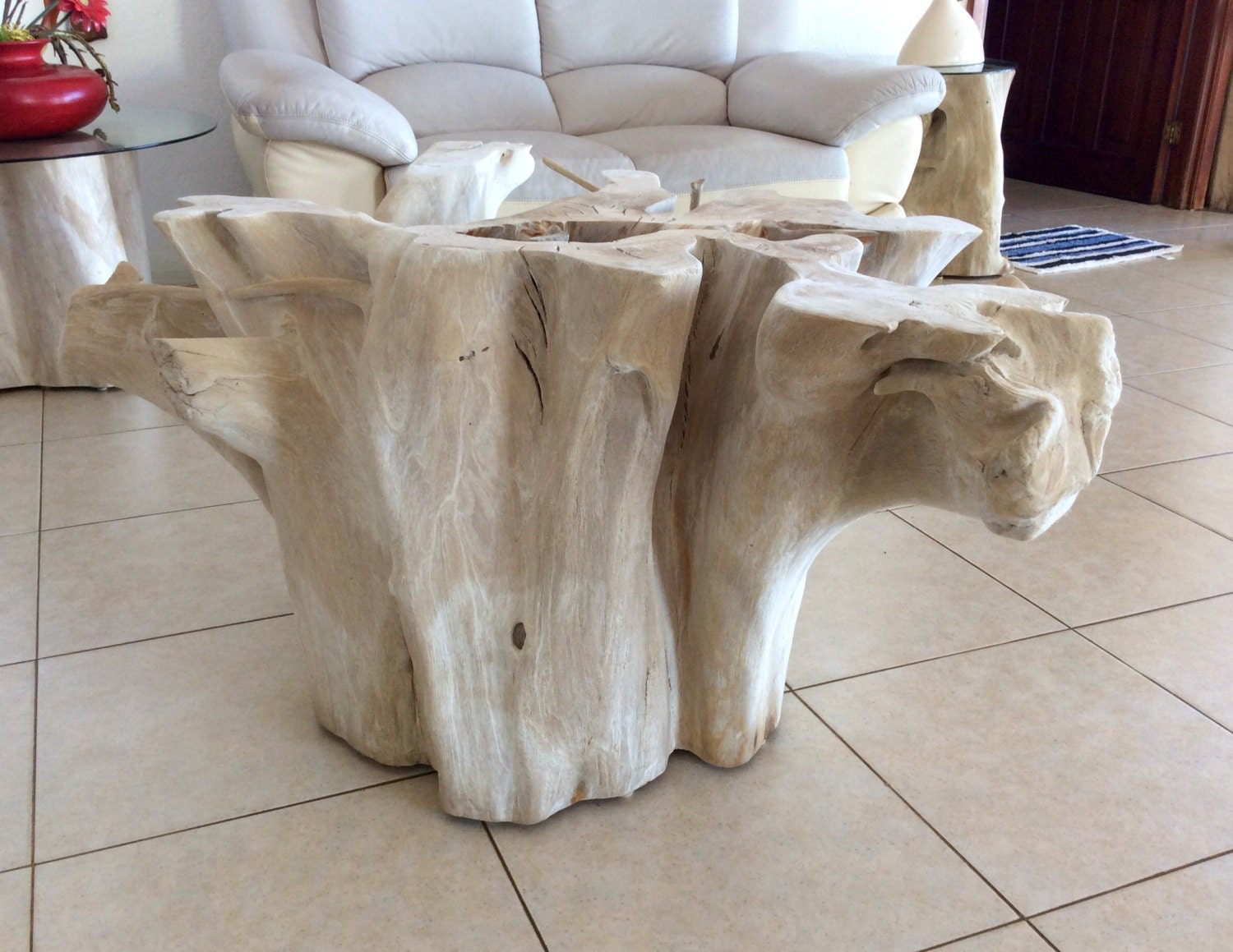 Tree trunk dining table - Tree Root Coffee Table Rustic Coffee Table Root Table Tree Stump Table