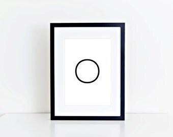 O Letter, Monogram, Home Decor, Alphabet, Typography, 8x10 Instant Download, Printable artwork, Digital Art, Printable Wall Art