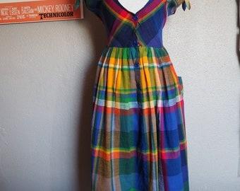 Vintage 1950s tartan dress