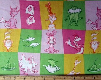 Dr. Seuss Cat in the Hat Fabric From Robert Kaufman
