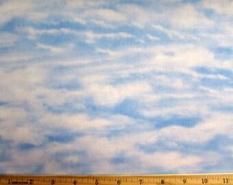 Blue Cloudy Sky Fabric
