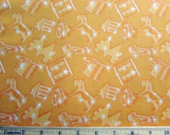 Monoploy Deep Yellow Sparkle Fabric