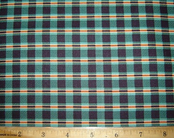 Plaid Green/Black Fabric From Quilting Treasures