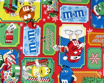 M&M Candy Christmas Fabric