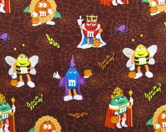 M&M Candy Halloween Fabric
