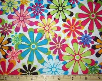 Cool Flowers Fabric