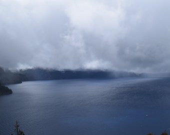 Picture of Crater Lake in a the fog