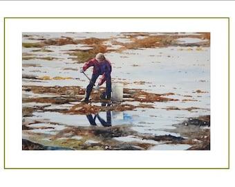 Clams fisherman
