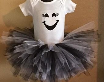 Tutu and Onsie- Ghost Costume