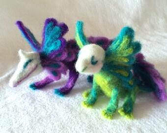 Felted Goblin Plushie (Green)